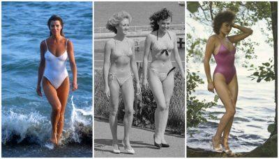 Kolazh me foto ndër vite: Si kanë ndryshuar rrobat e banjës