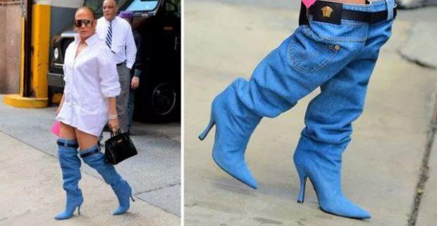Jennifer Lopez veshi një palë çizme xhinsi dhe bota ktheu kokën (FOTO)