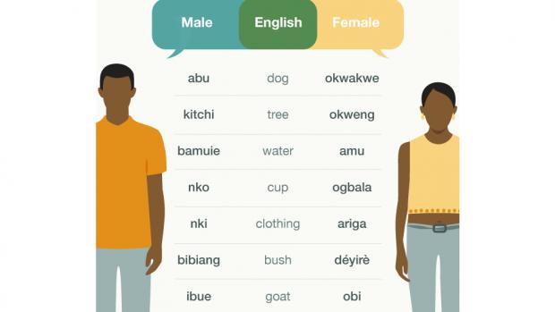 Njihuni me fshatin ku burrat dhe gratë flasin gjuhë të ndryshme