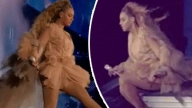 MOMENTI I SIKLETSHËM I DIVËS SË MUZIKËS/ Beyonce për pak sa nuk rrëzohet në skenë. Ja cfarë ndodhi… (FOTO)