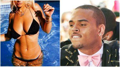 """Këngëtarja shqiptare poston këtë foto """"hot"""" me bikini/  Chris Brown mbetet pa fjalë dhe  i komenton (FOTO)"""