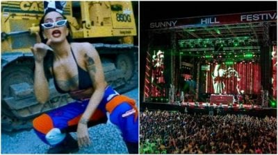 """Dafina Zeqiri e """"braktisi""""skenën e Sunny Hill Festival/  Jo për arsyen që menduan të gjithë (FOTO)"""