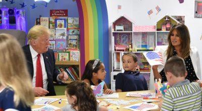 SHPËRTHEN DEBATI/ Presidenti Donald Trump ngjyros gabim flamurin amerikan… (FOTO)