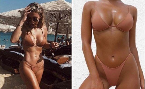 """""""Çmendi"""" ndjekësit me trupin e saj në plazh/ Shihni sa kanë kushtuar këto bikini të Lori Hoxhës (FOTO)"""