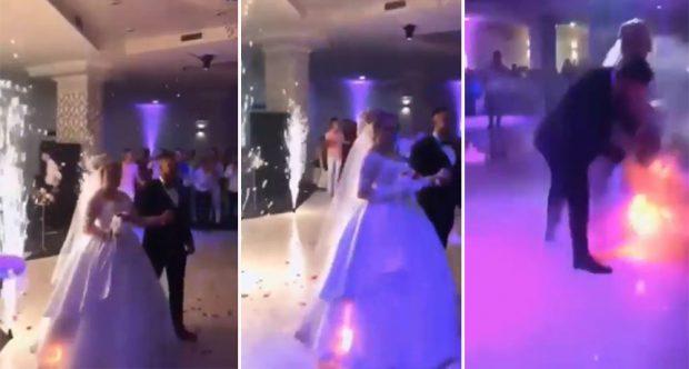 Nuses i merr flakë fustani/ Videoja e dasmës shqiptare bëhet virale