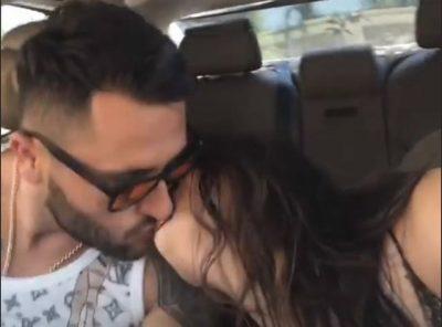 Xhensila dhe Besi në momente ROMANTIKE! Çifti puthen në makinë (FOTO)