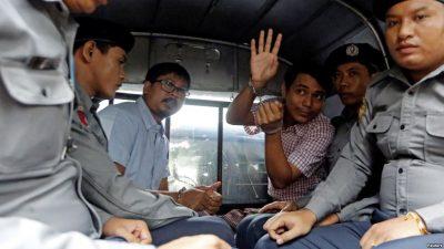 """Gazetarët e """"Reuters"""" dënohen me 7 vite burg në Mianmar"""