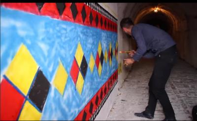 Art në tunele, artisti Rakipllari zbukuron muret në Gjirokastër
