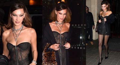 PUSHTON PASARELAT NGA NEW YORK NË MILANO/ Bella Hadid mahnitëse me fustan transparent