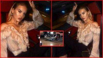 Pas aksidentit me Range Rover-in e saj në bllok/ Reagon Kejvina dhe ja çfarë ka bërë (FOTO)