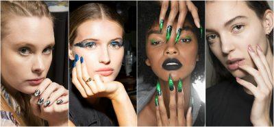 DO TË JENË TRENDI I PRANVERËS/ Ja dizanjet e thonjve që u prezantuan në javën e modës (FOTO)
