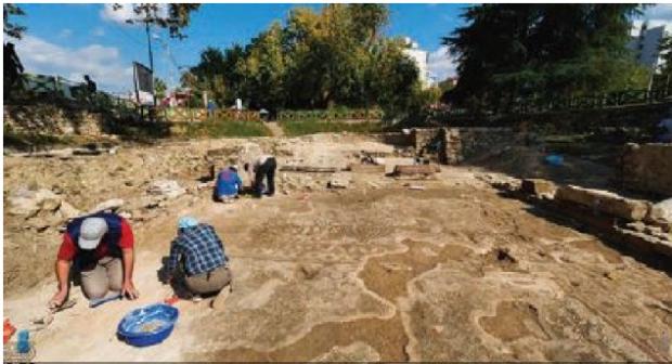 Bazilika e Elbasanit pas zbulimit në 2007-n nis të dokumentohet