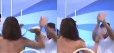 I PREKU TË PASMET/  Modelja e njohur shpërthen në grushta ndaj moderatorit (VIDEO)