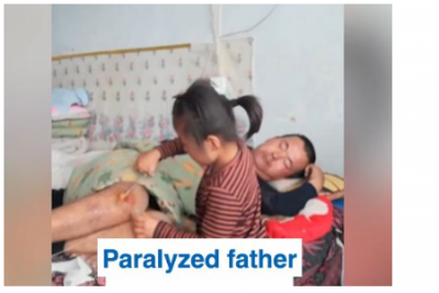 DASHURIA PËR BABANË/  6 vjeçarja që kujdeset për të atin e paralizuar (VIDEO)