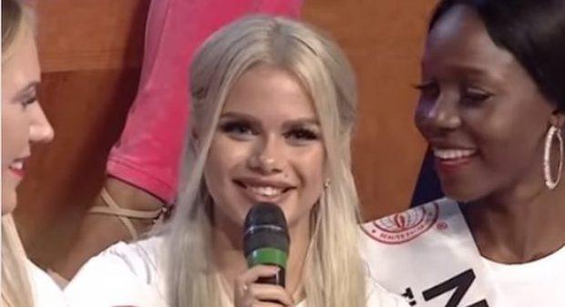 """""""PO DHJ*S""""/ Miss-i nga Letonia shokon publikun shqiptar (VIDEO)"""