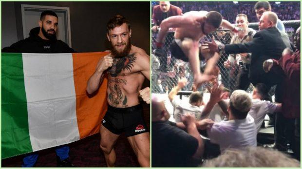 """DRAKE BËHET """"MEME"""" NË INTERNET/ Mos e humbisni këtë reagim epik gjatë ndeshjes së McGregor (FOTO)"""