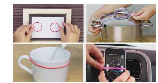 Zbuloni 10 truke që mund të bëni me llastikët e vegjël (VIDEO)