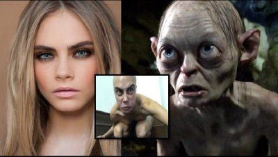 ME KOKËN E RRUAR E TËRËSISHT LAKURIQ/ Aktorja shfaqet si krijesa Gollum (FOTO)