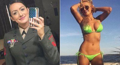 """PAS FOTOVE SEKSI/ Ushtarja amerikane bëhet """"hit"""" në Instagram"""