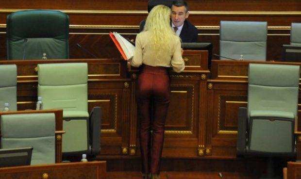 TË PRANISHMIT U HABITËN/ Deputetes shqiptare i dalin të brendshmet në komisionin parlamentar  (FOTO)