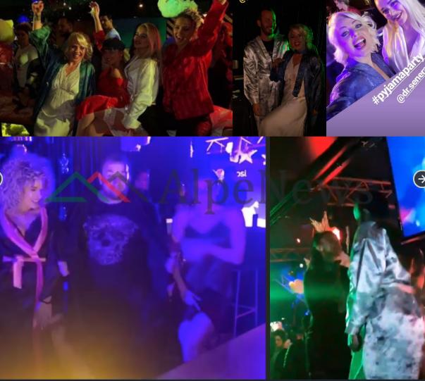 """""""FESTA E ÇMENDUR ME PIZHAMA""""/ Çfarë ndodhi dhe si u veshën VIP-at. Nga Olti Curri tek Aulona Musta (FOTO+VIDEO)"""