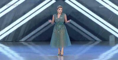 HABITEN SHIKUESIT/ Alketa Vejsiu del në emision me fustan transparent (VIDEO)