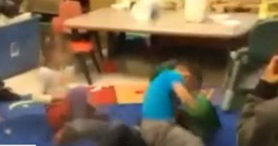 FËMIJËT BOKS NË KOPËSHT/ Edukatoret bëjnë tifozllëk (VIDEO)
