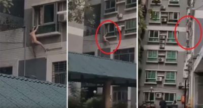 VIDEO QË PO BËHET VIRALE/ Dashnori e pëson keq gjatë arratisjes, bie nga kati katërt