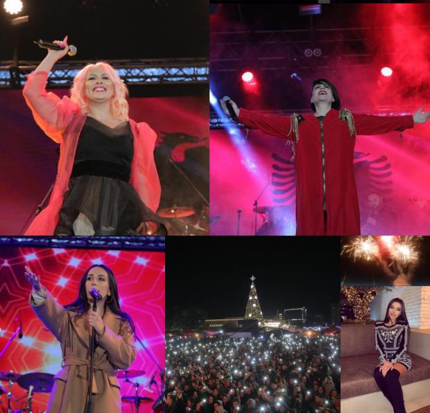 """""""NATA E BARDHË""""/ Atmosfera e VIP-ave në sheshin """"Skënderbej"""" dhe risitë e këtij viti (FOTO+VIDEO)"""