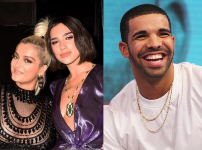 """OPA OPA, JASHA""/ Bebe Rexha dhe Dua Lipa ia marrin valles me këngën e Drake (VIDEO)"