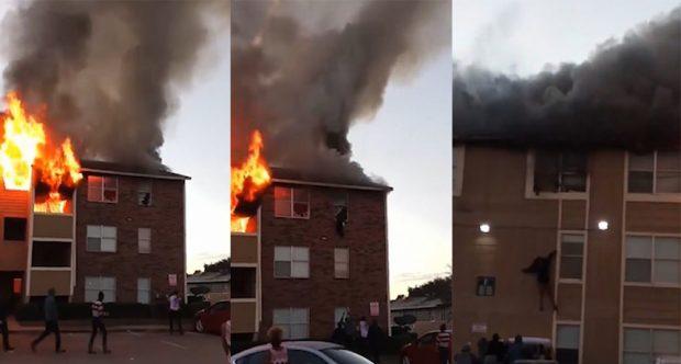 E PABESUESHME/ Nëna hedh vajzën nga dritarja e katit të tretë pasi shpërthyen flakët (VIDEO)