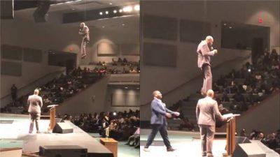 """VIDEOJA QË PO BËN XHIRON E RRJETIT/ Prifti hyn në kishë duke… """"fluturuar"""""""