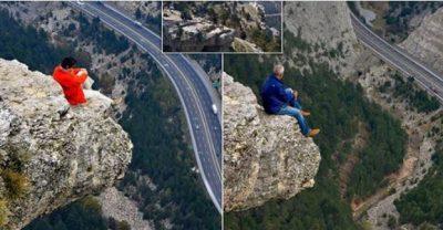 E GUXIMSHME/ Çifti bën foto në skajin e shkëmbit 1.5 km të lartë