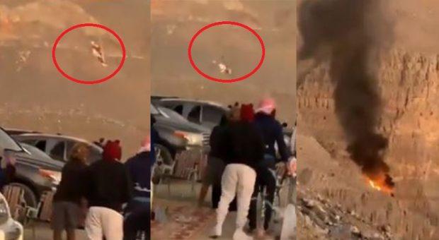 """E FRIKSHME/ Helikopteri i shpëtimit rrëzohet në malet e """"Emirateve të Bashkuara Arabe"""" (VIDEO)"""