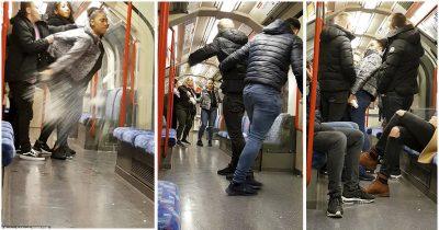 MOMENTI TRONDITËS/ 20 vjeçarja përleshet me meshkuj në tren (VIDEO)