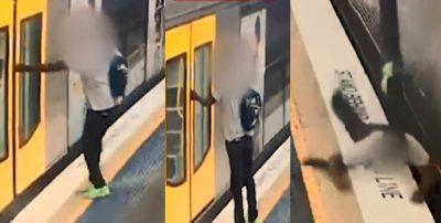 E TMERRSHME/ Dera e trenit i kap dorën duke e tërhequr zvarrë (VIDEO)