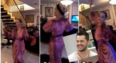 FESTOI KRISHTLINDJET ME KËNGËN E TIJ/ Shpat Kasapi se lë t'i ikë shansi me Rita Orën (FOTO+VIDEO)