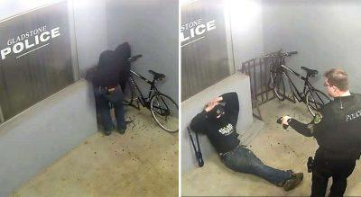 HAJDUTI MË I PAAFTË/ Tenton të vjedhë biçikletën para stacionit të policisë, arrestohet menjëherë (VIDEO)