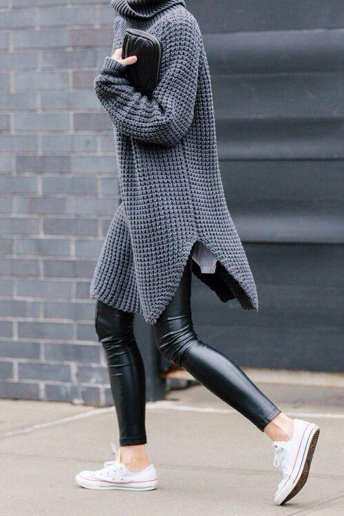 """VËMENDJE VAJZA/ Ja dy mënyrat më """"COOL"""" si ta kombinoni pulovrën """"oversize"""" (FOTO)"""