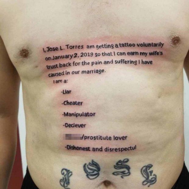 """PËR TË RIFITUAR ZEMRËN E GRUAS/ Burri realizon këto tatuazhe të """"guximshme"""" në trup (FOTO)"""