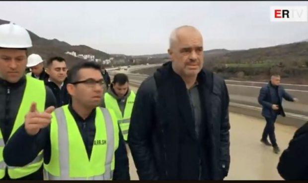 """""""ISHTE PA PROJEKT E PAGUAM…""""/ Rama inspekton Tiranë-Elbasan: Në mars hapet një nga korsitë"""