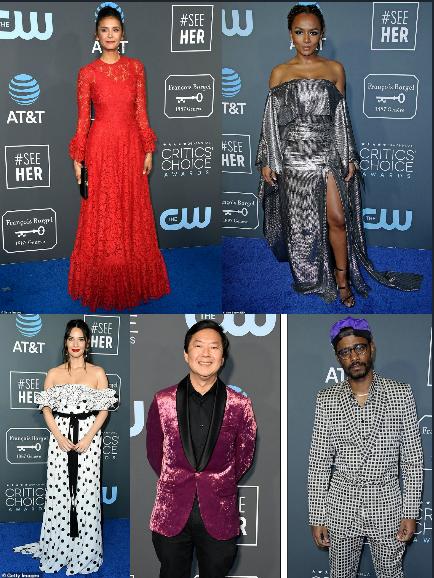 """KATASTROFAT E TAPETIT TE KUQ/ Nina Dobrev dhe Olivia Munn të veshurat më keq në """"Critic's Choice Awards"""""""