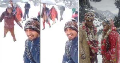 FRYMËZUESE/ Dhëndri ecën 6 km në dëborë për të marrë pjesë në ceremoninë e tij të dasmës