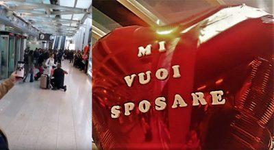 KA EDHE KËSHTU/ I propozon të dashurës për martesë në aeroport, ajo nuk pranon dhe largohet (FOTO)