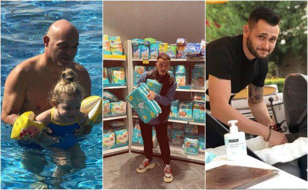 NGA PELENAT TEK DUSHI/ Këta janë baballarët shembullor të showbizit: Nga Fevziu tek Mozzik (FOTO)