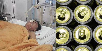 RAST I RRALLË/ I mbushin stomakun me 15 kanaçe birre për t'i shpëtuar jetën (FOTO)