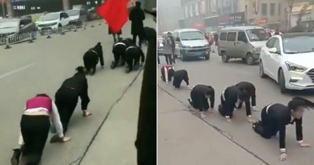 """""""NUK ARRITËN OBJEKTIVAT""""/ Punonjësit detyrohen të zvarriten në rrugë si ndëshkim (VIDEO)"""
