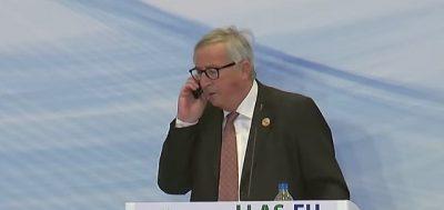 E MERR GRUAJA NË TELEFON/ Pesidenti i Komisionit Europian lë nam në mes të konferencës