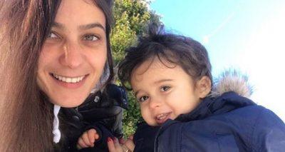 """""""DY  VITE BEKIM""""/ Delinda Disha uron të birin me fjalët më të ëmbla (FOTO)"""