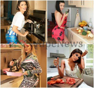 """ME LAKËR NË DORË E VESHJE SEKSI/ Kur VIP-et shqiptare i vënë """"flakën"""" kuzhinës (FOTO)"""